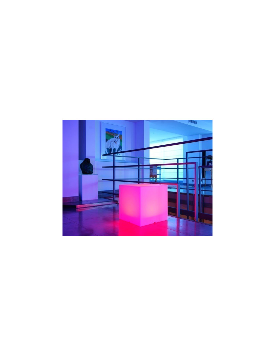 cube lumineux led multicolore sur secteur 40 x 40 x 40 cm. Black Bedroom Furniture Sets. Home Design Ideas