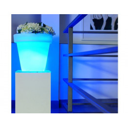 pot de fleur lumineux led multicolor sur secteur lumisky. Black Bedroom Furniture Sets. Home Design Ideas