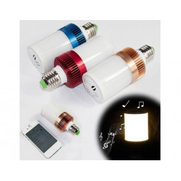 Ampoule musicale bluetooth LED blanche - 1