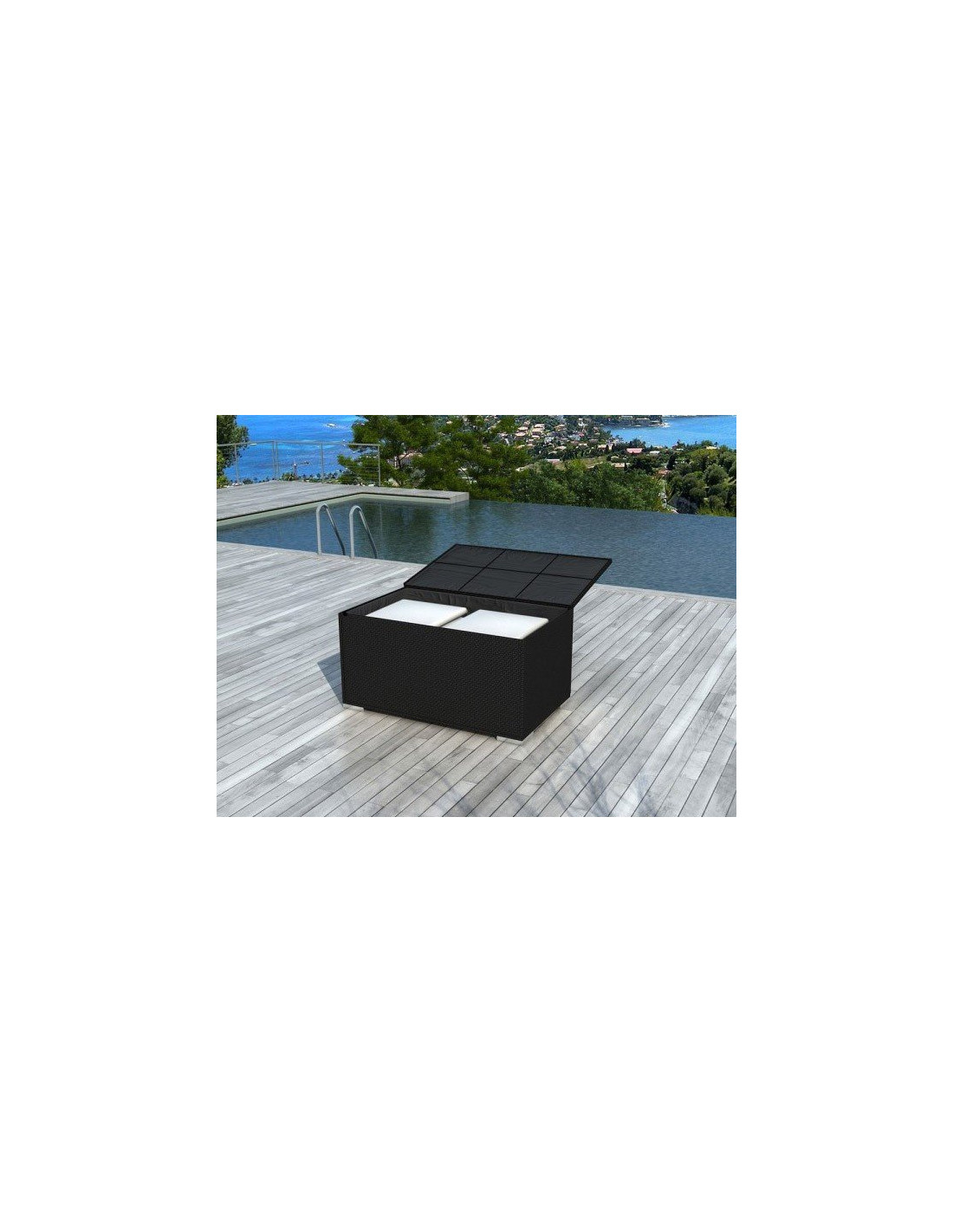 box en r sine tress e noire delorm. Black Bedroom Furniture Sets. Home Design Ideas