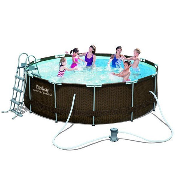 Piscine tubulaire bestway for Grande piscine ronde hors sol