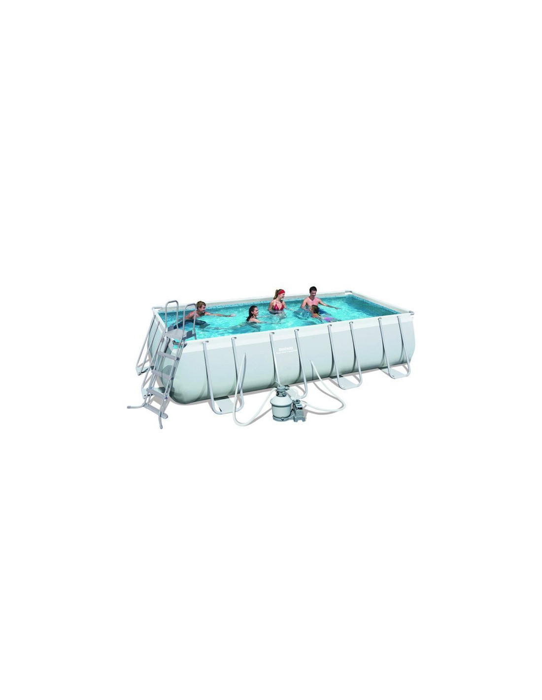 Piscine tubulaire rectangulaire bestway avec filtre sable for Piscine hors sol dimension