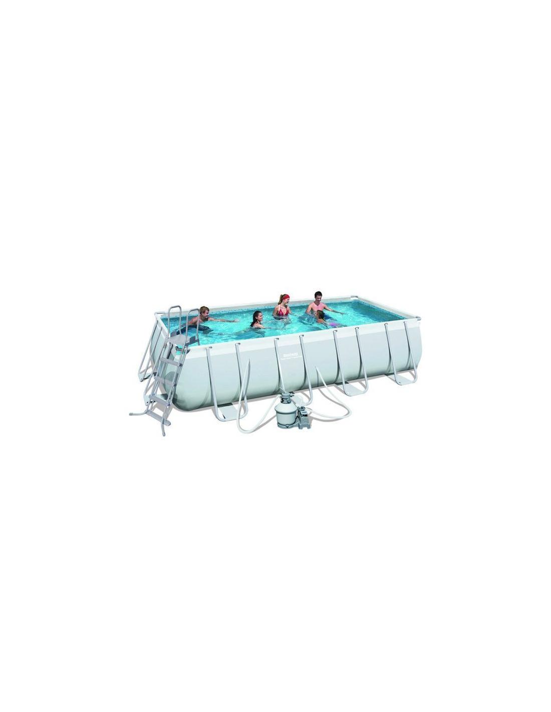Piscine tubulaire rectangulaire bestway avec filtre sable for Pompe filtre a sable piscine hors sol