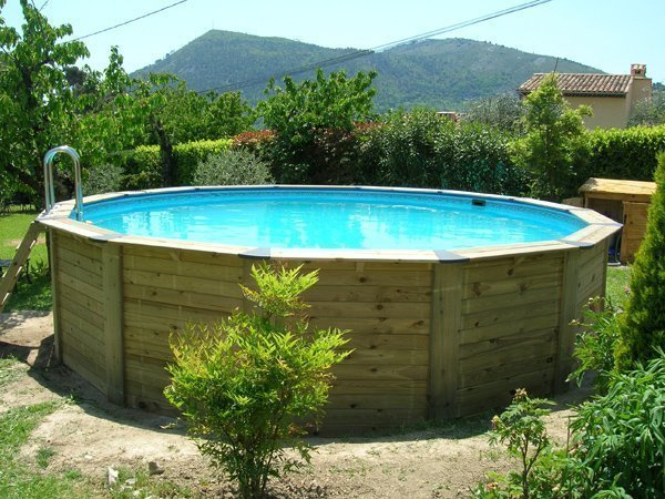 Piscine ronde bois for Piscine bois ronde