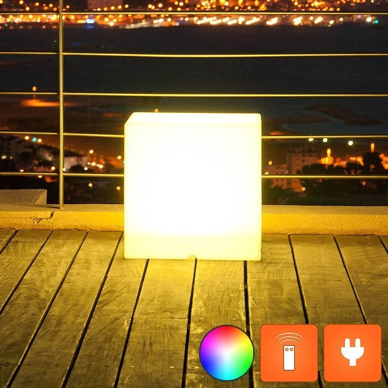 Cube lumineux led multicolore lumisky sur batterie