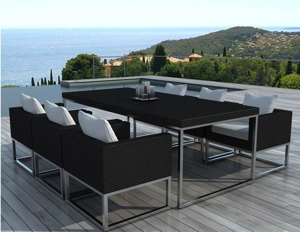 ensemble table et chaise de jardin 6 places mod le maldives. Black Bedroom Furniture Sets. Home Design Ideas