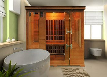 cabine infrarouge france sauna mod le luxe 1 5 places. Black Bedroom Furniture Sets. Home Design Ideas