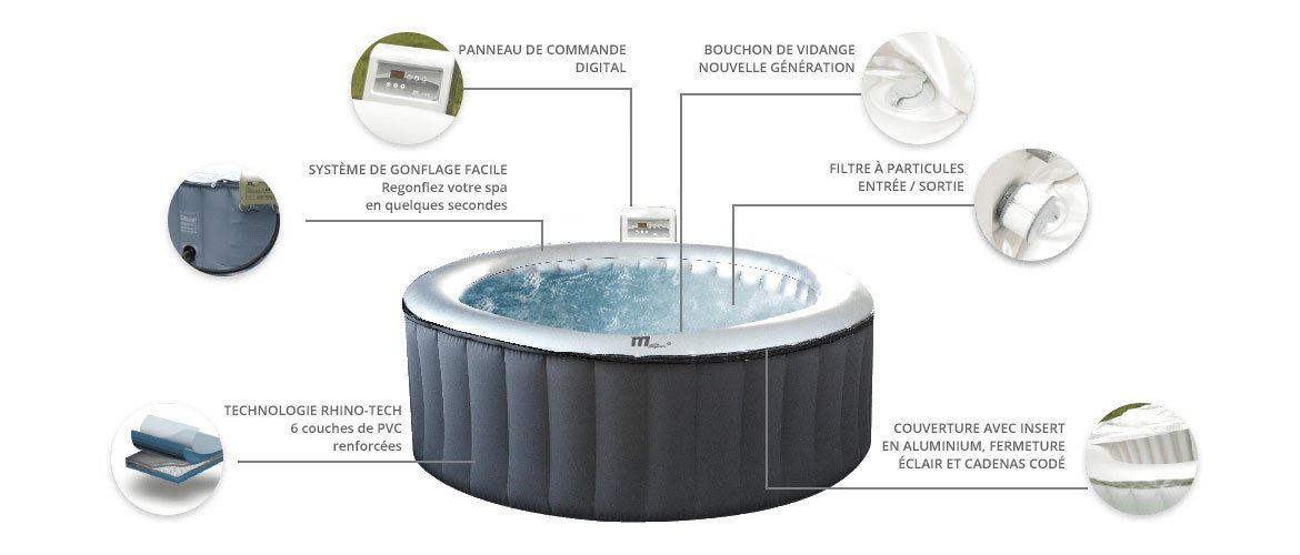 spa gonflable silver cloud lite